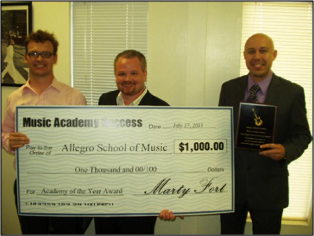 Music Academy Success 2011 School of the Year Award Winners Allegro School of Music